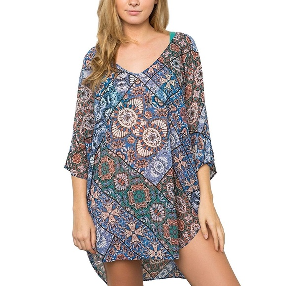 O'Neill Other - NWT O'Neill Bevie Printed Coverup Tunic S/XS
